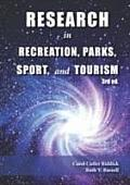 Research In Recreation Parks Sport & Tourism