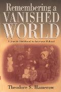 Remembering a Vanished World a Jewish Cover