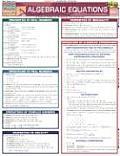 Algebraic Equations Laminate Reference Chart