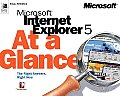Microsoft Internet Explorer 5 at a Glance Cover