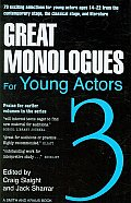 Great Monologues for Young Actors 3