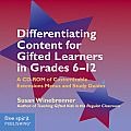 Differentiating Content for Gifted Learners: A CD-ROM of Customizable Extensions Menus and Study Guides