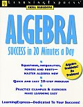 Algebra Success In 20 Minutes A Day 1st Edition