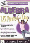 Algebra in 15 Minutes a Day [With Access Code] (Junior Skill Builders)