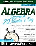 Algebra Success In 20 Minutes A Day 4th Edition
