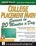 College Placement Math in 20 Minutes a Day