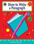 How to Write a Paragraph: Grades 6-8 Cover