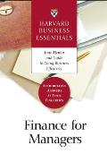 Finance for Managers (Harvard Business Essentials) Cover