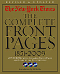 New York Times The Complete Front Pages 1851 2009