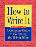 How To Write It A Complete Guide To Everything