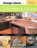 Design Ideas for Decorative Concrete and Stone (Design Ideas) Cover