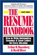 Resume Handbook How To Write Outstanding Res
