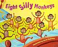 Eight Silly Monkeys Jumping on the Bed Cover