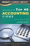 Vault Guide to the Top 40 Accounting Firms (Vault Career Library)