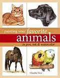 Painting Your Favorite Animals in Pen Ink & Watercolor