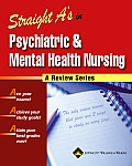 Straight A's in Psychiatric & Mental Health Nursing with CDROM (Straight A's) Cover