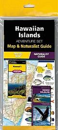 National Geographic Hawaiian Islands Adventure Set Map & Naturalist Guide