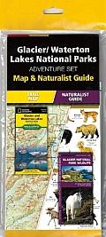 Glacier/Waterton Lakes National Parks Adventure Set: Map & Naturalist Guide