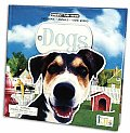 Dogs Fact Book Animals Game Board With Tube of Toy Dogs & Gameboard