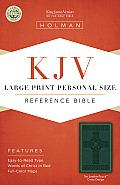 Large Print Personal Size Reference Bible-KJV-Cross Design