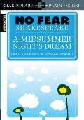 A Midsummer Night's Dream (Sparknotes No Fear Shakespeare) Cover