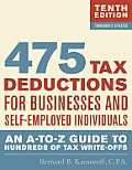 475 Tax Deductions for Businesses and Self-Employed Individuals: An A-To-Z Guide to Hundreds of Tax Write-Offs (475 Tax Deductions for Businesses & Self-Employed Individuals)