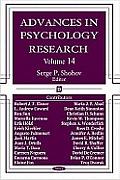 Advances in Psychology Researchvolume 14