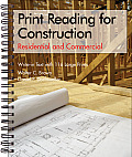 Print Reading for Construction: Residential and Commercial: Write-In Text with 116 Large Prints