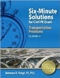 Six-Minute Solutions for Civil PE Exam Transportation Problems Cover