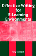 E Ffective Writing For E Learning Enviro