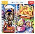 Eye Find A Picture Puzzle Book With 3 Cool Searching Tools & Zipper Pocket