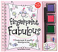 Fingerprint Fabulous: Create Sweet &amp; Sparkly Thumbprint Art [With Sequins and Three Ink Pads and Postcards and Glitter Glue and Marker] Cover