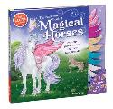 The Marvelous Book of Magical Horses: Dress Up Paper Horses and Their Fairy Friends [With Storage Envelope and 6 Paper Horses, 3 Paper-Doll Fairies, 4 Cover