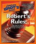 Complete Idiot's Guide to Robert's Rules (Complete Idiot's Guides) Cover