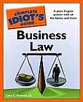 Complete Idiot's Guide To Business Law (09 Edition) Cover