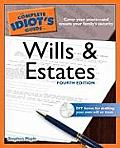The Complete Idiot's Guide to Wills and Estates [With CDROM] (Complete Idiot's Guides) Cover