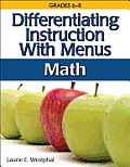 Differentiating Instruction with Menus: Middle School Math