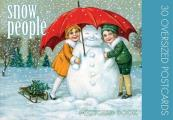 Snow People: 30 Oversized Postcards