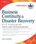 Business Continuity &amp; Disaster Recovery Planning for IT Professionals Cover