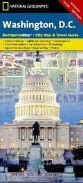 Washington, D.C., Destination Map, City Map & Travel Guide: Points of Interest, Additional Inset Map, Transit System, Travel Information, Top Attracti