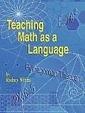 Teaching Math as a Language