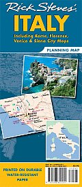 Rick Steves Italy Planning Map Including Rome Florence Venice & Siena City Maps