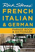 Rick Steves' French, Italian & German Phrase Book (Rick Steves' Phrase Books) Cover