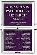 Advances in Psychology Researchv. 45