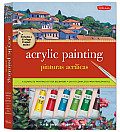Acrylic Painting/Pinturas Acrilicas: A Complete Painting Kit for Beginners/Un Kit Completo Para Principiantes [With Paint Palette and 2 Paintbrushes a