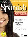 Instant Immersion Spanish With Stickers & National Geographic Map & Flash Cards & DVD