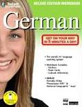 Instant Immersion German With Stickers & National Geographic Map & Flash Cards & DVD