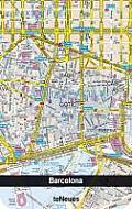Libreta Apaisada: Mapa De Barcelona Ciudad (10 X 15 )