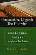 Computational Linguistic Text Processing