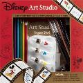 Disney Art Studio [With Palette and Drawing Pencil, 7 Colored Pencils and 2 Paintbrushes and 3 Watercolor Paints and Cover